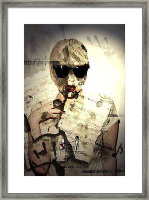 M. Gaga Framed Print by Stevn Dutton