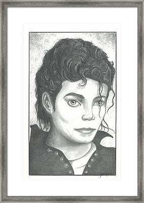 M. J. Framed Print by Julian  B