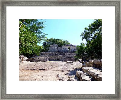 Framed Print featuring the photograph M Ruin by Francesca Mackenney