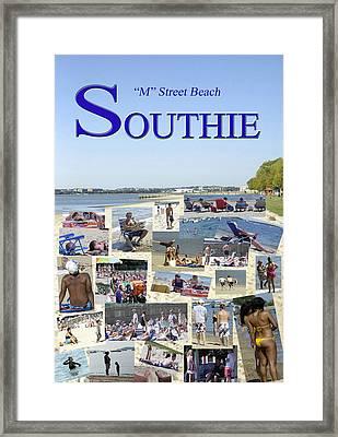 M Street Beach  Southie Framed Print