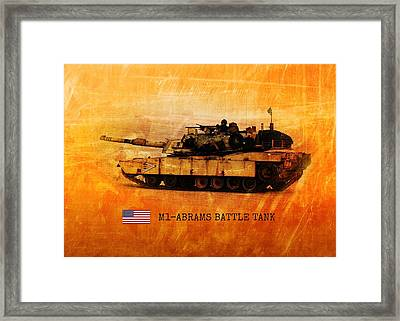 M1 Abrams Battle Tank Framed Print by John Wills