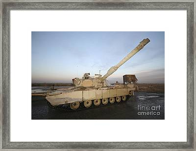 M1 Abrams Tank At Camp Warhorse Framed Print by Terry Moore