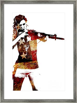 M1 Carbine And Bayonet Framed Print