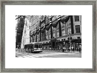 M1 On 5th Avenue Framed Print