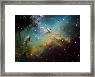 M16 The Eagle Nebula Framed Print by Ken Crawford