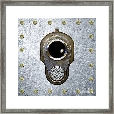 M1911 45 Framed With 45 Case Heads Framed Print by M L C