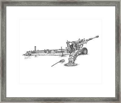 M198 Howitzer - Standard Size Prints Framed Print