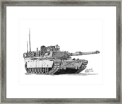 M1a1 B Company 1st Platoon Commander Framed Print