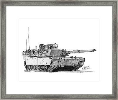 M1a1 D Company Xo Tank Framed Print
