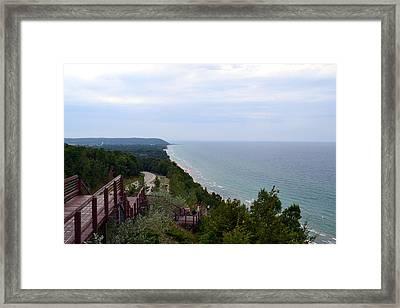 M22 Scenic Lake Michigan Overlook  Framed Print