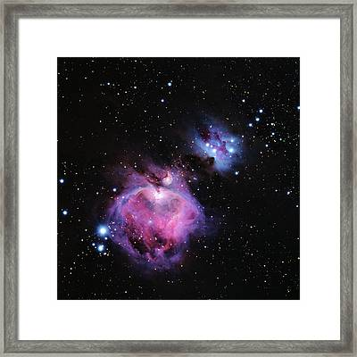 M42--the Great Nebula In Orion Framed Print by Alan Vance Ley