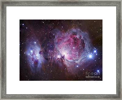 M42, The Orion Nebula Top, And Ngc Framed Print by Robert Gendler