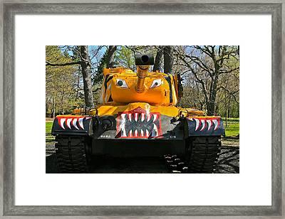 M46 Patton Tank Framed Print by Robert Joseph