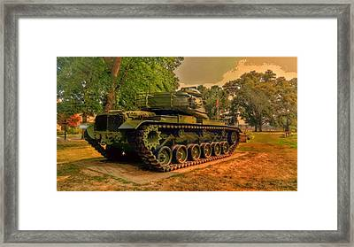 M60a3 Main Battle Tank Framed Print by Shelley Smith