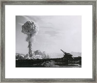 M65 Atomic Cannon Framed Print by Science Source