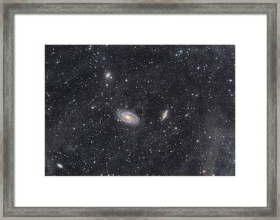 M81 And M82 Widefield Framed Print