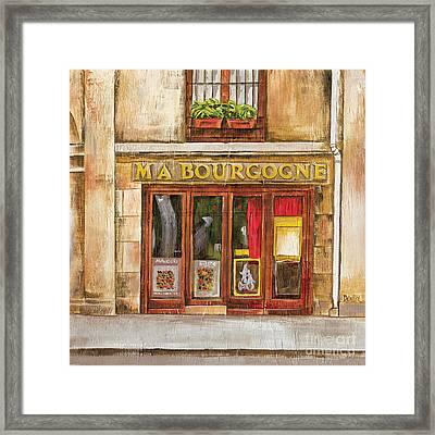 Ma Bourgogne Framed Print