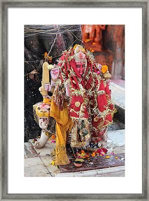 Ma Durga, Haridwar Framed Print by Jennifer Mazzucco