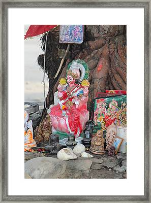 Ma Durga Tree Temple, Haridwar Framed Print by Jennifer Mazzucco