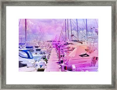 Marina In The Morning Glow Framed Print