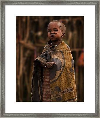 Maasai Boy Framed Print by Adam Romanowicz
