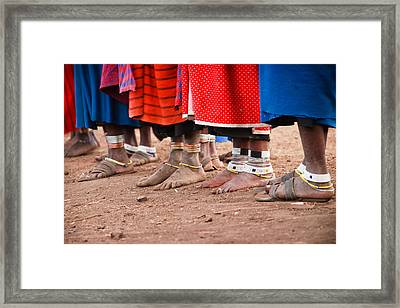 Maasai Feet Framed Print