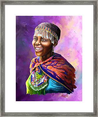 Maasai Girl Framed Print