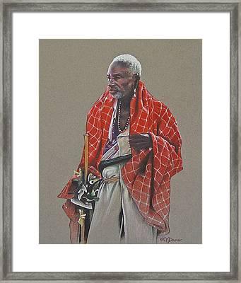 Maasai Mzee Framed Print by Cindy Davis