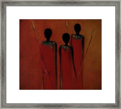 Maasai Trio  Framed Print
