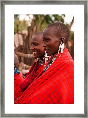Maasai Women Framed Print by Adam Romanowicz