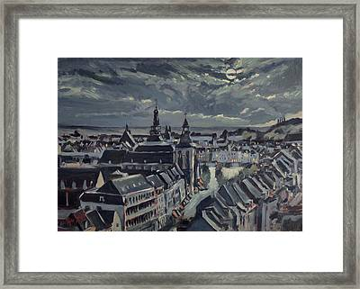 Maastricht By Moon Light Framed Print