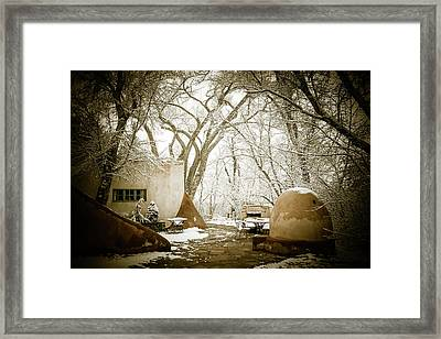Mabel Luhan Dodge Home Exterior Framed Print by Marilyn Hunt