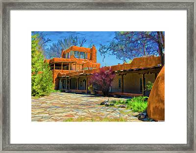 Mabel's Courtyard As Oil Framed Print