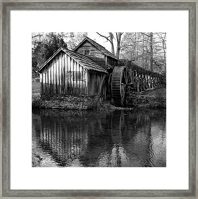 Mabry Mill In Black And White 1x1 - Virginia Framed Print