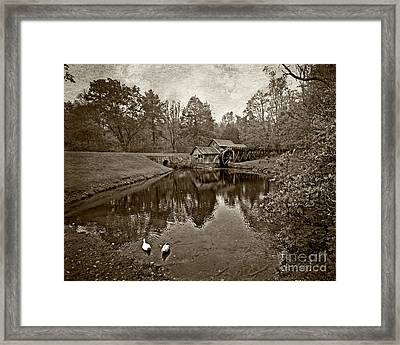 Mabry Mill In Black And White Framed Print