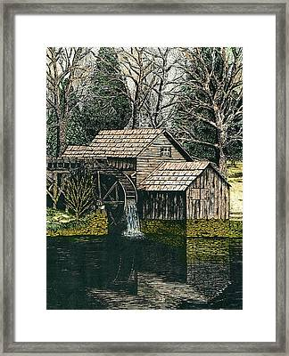 Mabry Mill Framed Print by Mike OBrien