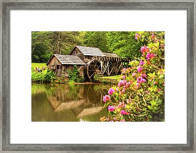 Framed Print featuring the photograph Mabry Mill by Rebecca Hiatt