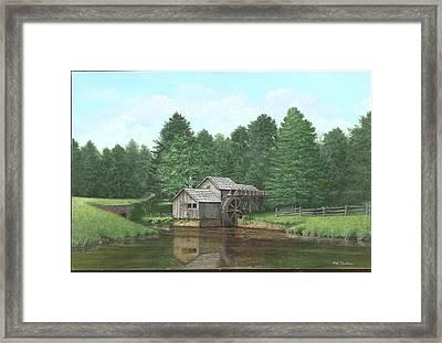 Mabry Mill Summer Framed Print