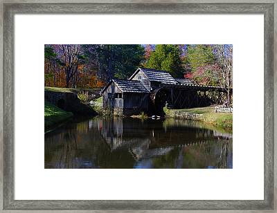 Mabrys Mill On The Blue Ridge Framed Print
