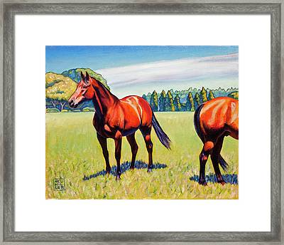Mac And Friend Framed Print