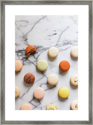 Macaron Pattern Framed Print by Happy Home Artistry