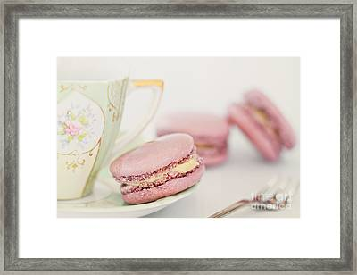 Macarons And Tea Framed Print