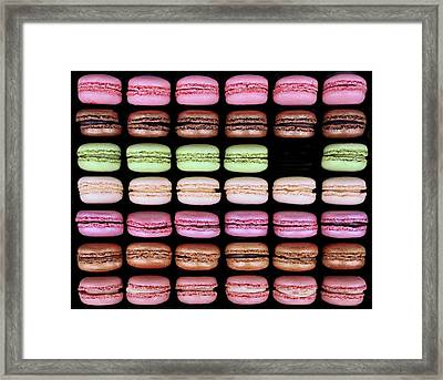 Framed Print featuring the photograph Macarons - One Missing by Nikolyn McDonald