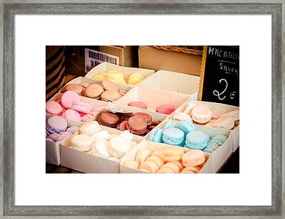 Framed Print featuring the photograph Macaroooons by Jason Smith