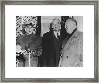 Macarthur, Dulles, Eisenhower Framed Print by Underwood Archives