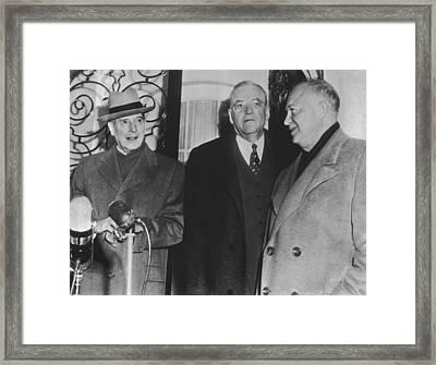 Macarthur, Dulles, Eisenhower Framed Print