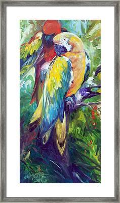 Macaw Pair Framed Print by Marcia Baldwin
