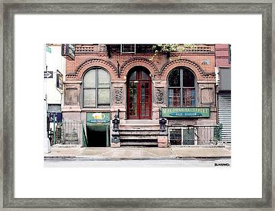 Macdougal Street Ale House Framed Print by Al Blackford