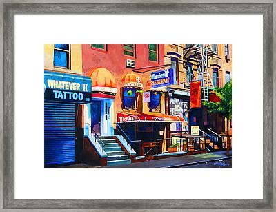 Macdougal Street Framed Print by John Tartaglione