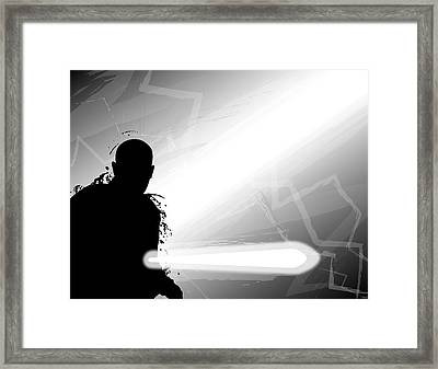 Mace Windu Framed Print